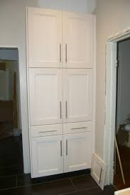 Recessed Kitchen Cabinets Matchless Tall Pantry Cabinet Ikea With European Bar Pulls Cabinet