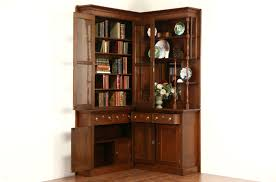 Victorian Eastlake Corner 1885 Antique Walnut Library Bookcase or China  Cabinet ...