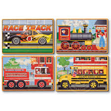 melissa doug melissa doug vehicles wooden jigsaw puzzles 4 12pcs in a box