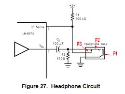 audio jack circuit 2yamaha com Headphone Jack Schematic Diagram Earphone Diagram