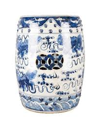 chinese garden stool. Blue And White Chinese Lion Garden Stool , Ceramic - OD, The Pink Pagoda