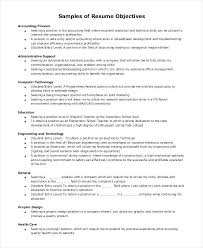 Sample Objective Statements For Resumes