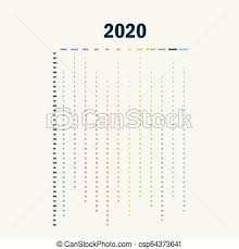 12 Months 2020 Calendar 2020 Calendar Template Calendar 2020 Set Of 12 Months Yearly Calendar Vector Design Stationery Template Vector Illustration