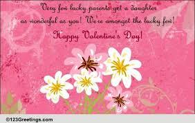 happy valentine s day daughter. Wonderful Day Happy Valentineu0027s Day Daughter Free Family ECards Greeting Cards  123  Greetings On Valentine S Daughter Y