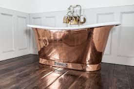 copper bath chadder and co white enamel antique tub nickel taps chrome filler wood floor gray remodeling shower doors for bathtubs