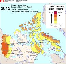 Simplified Seismic Hazard Map For Canada The Provinces And