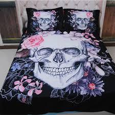 3d sugar skull bedding set