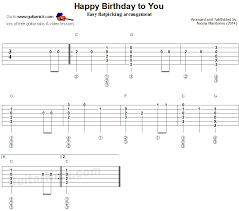 View, download and print in pdf or midi sheet music for happy birthday to you by misc traditional. Happy Birthday Flatpicking Guitar Lesson Guitarnick Com