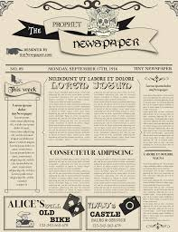 Editable Old Newspaper Template Editable Newspaper Template Portrait Magdalene Project Org