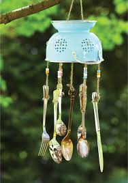 Craft this unique wind chime out of old kitchen utensils. Homemade ...