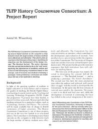 TLTP History Courseware Consortium: A Project Report