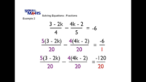 solving linear equations with fractions and variables tessshlo
