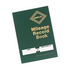 Mileage Book Simplex Hardback Mileage Record Book Green 14 Entries Per Page Mrb