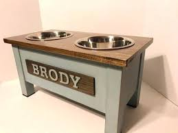 extra large dog bowl stands raised dog bowl stands uk rustic wooden dog dish stand dog