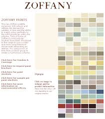 Zoffany Paint Colour Chart Zoffany Paints The New Zoffany Palette Comprises 128 Colours