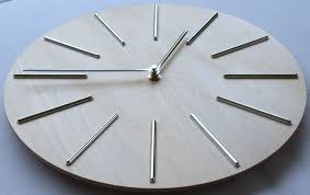 extremely creative modern wood wall clock  home designing