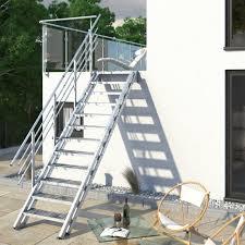 Treppen aus stahl schenken ihrem raum eleganz, modernität und leichtigkeit. Feuerverzinkte Stahl Aussentreppe Im Online Shop Treppen Werk