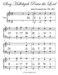 hallelujah piano sheet music sing hallelujah praise the lord easy piano sheet music pdf by john