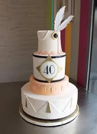 Art Deco 40th Birthday Cake Whipped Bakeshop