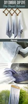 diy bathroom decor ideas. Ombre Dip Dye Tea Towels | Bathroom Decorating Ideas On A Budget. Via DIY Projects Diy Decor