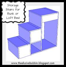 The Elusive Bobbin Free Storage Stairs Plans for a Loft Bed