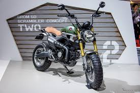 check out the attention to detail on some of the custom additions to these concept grom scramblers as honda really pulled out all the stops on these and