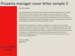 Property Management Cover Letters Infinite Manager Letter