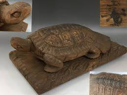 kt3 86 era thing turtle ornament turtle tree carving wooden extra large