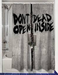 the walking dead shower curtain sweet