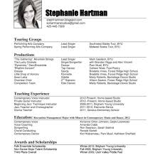 Resume Samples 2011 Music Performance Resume Music Performance Resume Happy Now Tk 1