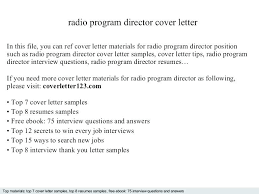 Radio Broadcasting Music Director Resume Interesting Radio Broadcasting Music Director Resume Radio Program Director