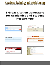 8 Great Citation Generators For Academics And Student Researchers