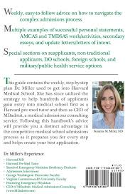 The Medical School Admissions Guide: A Harvard Md's Week-By-Week