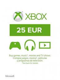 Microsoft Giftcard Xbox Live Gift Card 25 Eur Code Eu