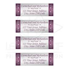 Personalized Perfectly Plum And Silver Floral Wedding Address Labels