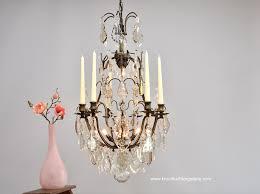 Antiker Französischer Kronleuchter Mit Kerzen Und Lichtpunkten