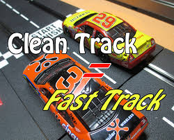 picture of slot car track and tire cleaning tips improved traction