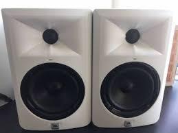 jbl 305 white. mint jbl lsr305 series studio monitors (pair) limited edition white 305