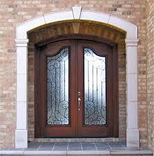 french front doorsDoors by Decora Custom Exterior Wood Entry Door with Iron Grills