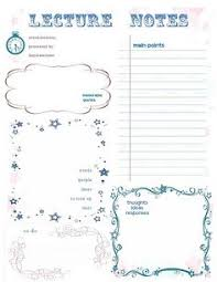 notes sheet template note taking templates these pdf files have editable fields so that