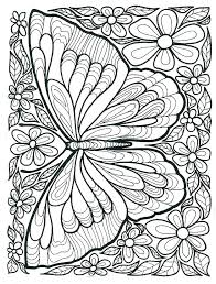 Flowers And Butterflies Coloring Pages Butterflies Coloring Page Of