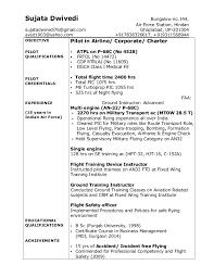 Pilot Resume Template Extraordinary Sample Pilot Resume Resumesbestenholes
