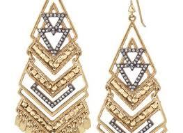 gold statement chandelier earrings stella dot