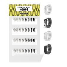 Huggie Hoop Earrings Size Chart Stainless Steel Huggie Hoop Earring With Engraving Bepapaia
