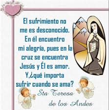 Resultado de imagen para Frases de Santa Teresa de los Andes