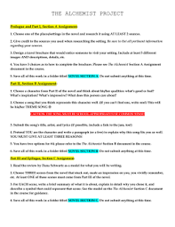 the alchemist literary plan sample pdf the alchemist project ms barnes resources