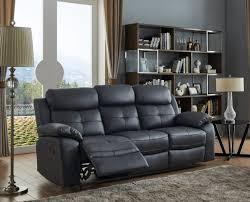 andalusia genuine leather sofa black