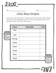 Jelly Bean Colour Chart Jelly Bean Bar Graph And Pictograph