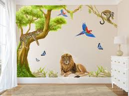 jungle mural animal wall decals