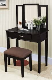 Three Way Vanity Mirror Excellent Bedroom Vanity Furniture Design With White Stained